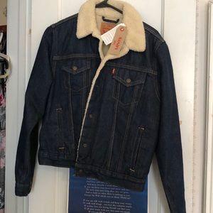 NWT Sherpa lined Levi Strauss & Co denim Jacket